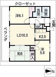植田山ミルキーウェイ[4階]の間取り