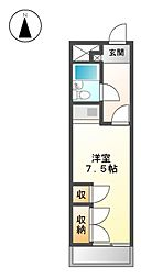 コスモポリタン90[4階]の間取り