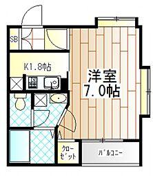 東京都町田市金森東3の賃貸アパートの間取り
