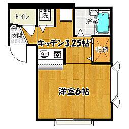 キャロットハウス5[2-A号室]の間取り