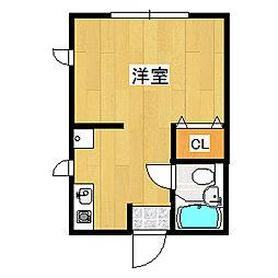 兵庫県宝塚市逆瀬川1丁目の賃貸アパートの間取り