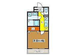 東京都府中市片町1丁目の賃貸マンションの間取り