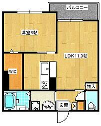 大阪府大阪市住之江区中加賀屋3丁目の賃貸マンションの間取り