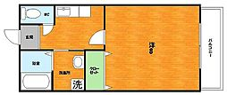 大阪府枚方市北山1丁目の賃貸アパートの間取り