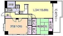 エンゼルハイム六ツ門[603号室]の間取り