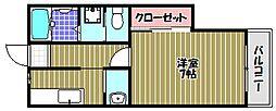 ラ・グレース金剛[2階]の間取り