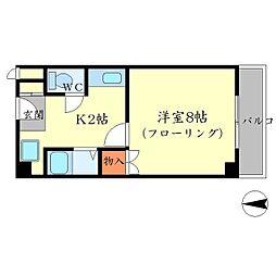 プレステージK[1階]の間取り