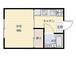 第2営野コーポ[1階]の間取り