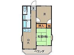 西川口コーポラス[7F部分号室]の間取り