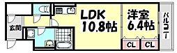 大阪府堺市西区浜寺船尾町西5丁の賃貸アパートの間取り