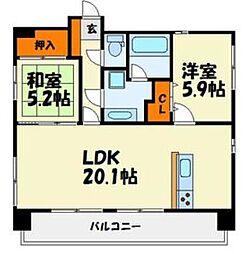 プレスタイル博多駅南II[301号室]の間取り