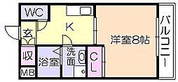 サクシード(御井旗崎)[506号室]の間取り