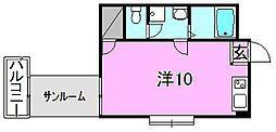 カサグランデ市坪[105 号室号室]の間取り