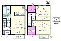 [テラスハウス] 神奈川県茅ヶ崎市矢畑 の賃貸【/】の間取り