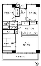 モニュメントスクウェア壱番館[3階]の間取り