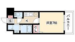 愛知県名古屋市瑞穂区土市町2丁目の賃貸マンションの間取り