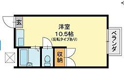 黒住コーポC棟[2階]の間取り