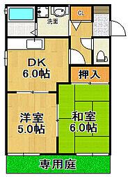 兵庫県宝塚市谷口町の賃貸アパートの間取り