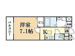 グレイスアニュー[2階]の間取り