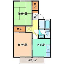 メゾンミヤマコーポラス A棟[103号室]の間取り