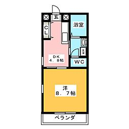レジデンスフローラ[2階]の間取り