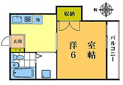 マートルプレイス北新宿[305号室]の間取り