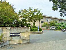 周辺:加古川中学校まで約1400m。