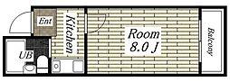 メゾンK[6A号室]の間取り
