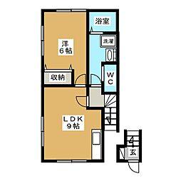 プレステージA[2階]の間取り