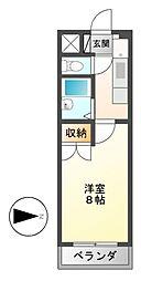 レスポワール中野[3階]の間取り