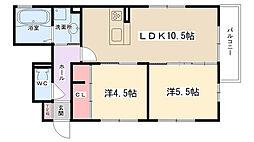 D-room木曽西A棟[101号室]の間取り