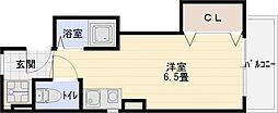 マウントソフィア 2階ワンルームの間取り