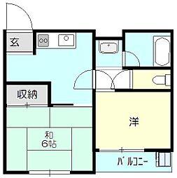 渡辺ハイツ[3階]の間取り