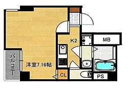 グランパシフィック木川東[2階]の間取り