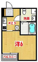 埼玉県越谷市蒲生寿町の賃貸マンションの間取り