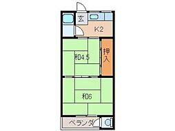 乙井マンション[2階]の間取り