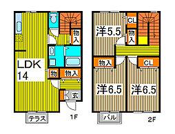 [テラスハウス] 埼玉県さいたま市南区大字大谷口 の賃貸【/】の間取り