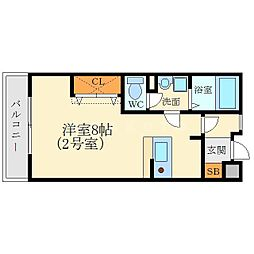 カルム香川V[1階]の間取り