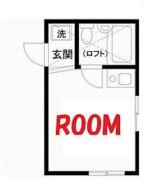 神奈川県横浜市西区伊勢町1丁目の賃貸アパートの間取り