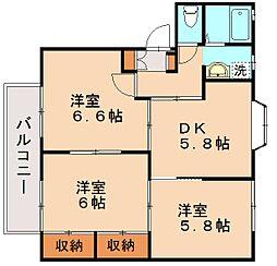 セフィーロ笹原[2階]の間取り