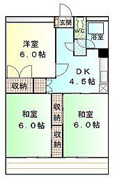 大橋屋コーポ[2階]の間取り