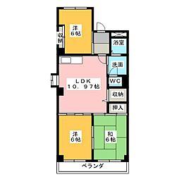 サンシャインITO[3階]の間取り
