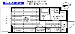 ステージファースト板橋桜川[202号室]の間取り