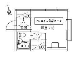 ROCイン茅原[2-4号室]の間取り