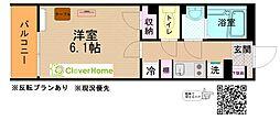小田急江ノ島線 大和駅 徒歩5分の賃貸マンション 2階1Kの間取り