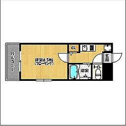 ブレインズ姪浜[301号室]の間取り