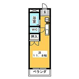 ロイヤルマンション3号館[2階]の間取り