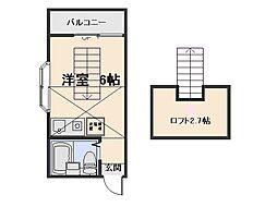 コーポ石川A棟[201号室]の間取り