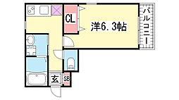 アビタ神戸元町[302号室]の間取り