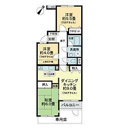 ライオンズマンション与野本町第3[1階]の間取り